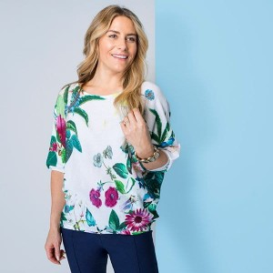 Phase Eight Fine Gage Knit Print Top